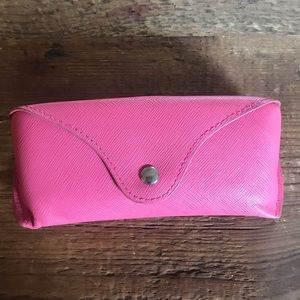 H&M Hard Faux Leather pink sunglasses case